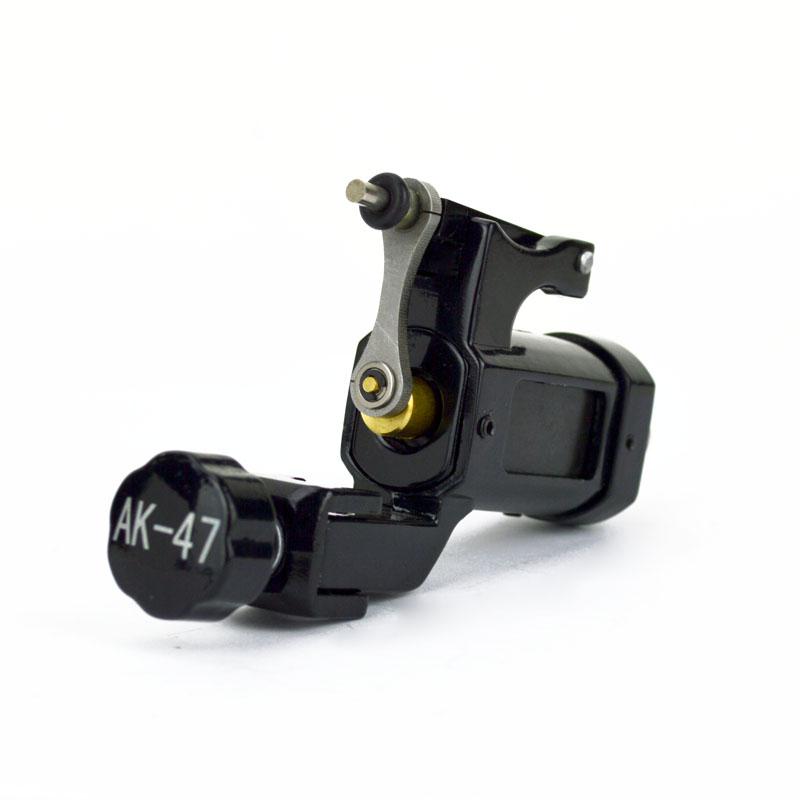 Ak 47 Black Rotary Tattoo Machine Lightweight Alloy Frame