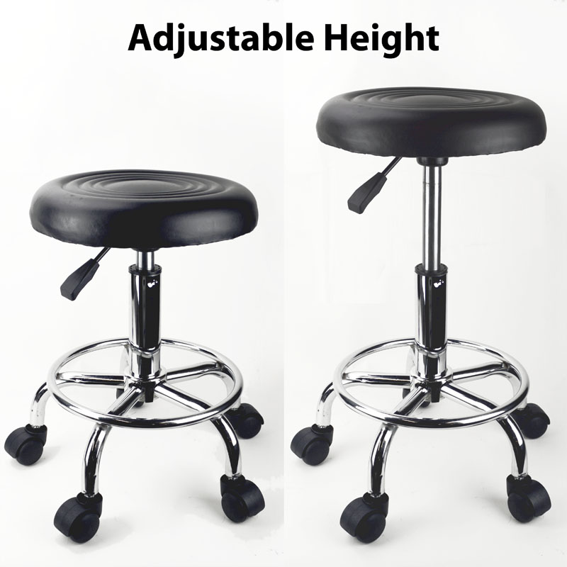 sc 1 st  United Tattoo Supply & Black Adjustable Rolling Stool Tattoo Salon Chair islam-shia.org
