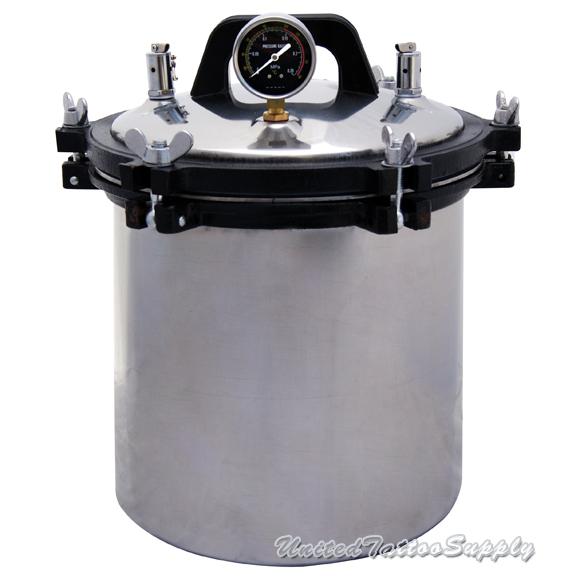 Tattoo autoclave steam sterilizer 4 7 gallon 18 liter for Tattoo sterilization equipment