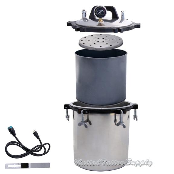 Tattoo Autoclave Steam Sterilizer 47 Gallon 18 Liter Steam Autoclave Sterilizer Tattoo Dental Commercial Unit New