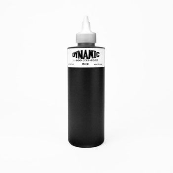 Dynamic black tattoo ink 8 oz bottle great for lining for Tattoo ink dynamic