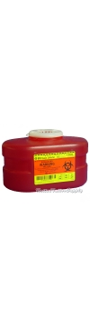 BD Sharps Collector, Red, 3.3 Quart