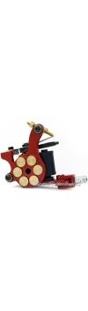 E-class Professional Red Bullet Revolver Tattoo Machine w/10 Wrap Coil