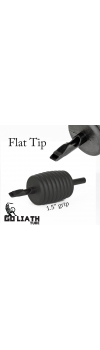 "Goliath Tube™- 1.5"" Inch Super Size Black Sterile Disposable Tattoo Grips - 15 Flat 10 Pack"