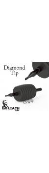 "Goliath Tube™- 1.5"" Inch Super Size Black Sterile Disposable Tattoo Grips - 3 Diamond 10 Pack"