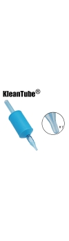 KleanTube® - Premium Tattoo Disposable Grips with Clear Tips - 18 Round