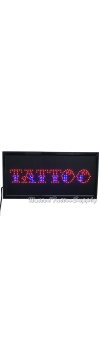 "LED Tattoo Sign - 12"" x 24"" LED Business Shop Sign"