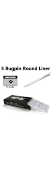 Tattoo Needles - #10 Bugpin 5 Round Liner