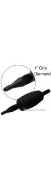 "1"" Inch Sterile Disposable Black Silicone Tattoo Grip - 18 Diamond"