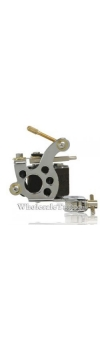Silver Stainless Steel Tattoo Machine w/10 Wrap Coils
