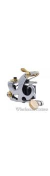 E-CLASS Silver Steel Professional Tattoo Machine TM-E038 /w 10 coils