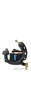 S-CLASS Steel Professional Tattoo Machine Black TM-S049/w 10 coils