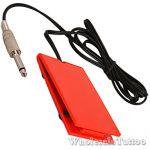 Red Acrylic Tattoo Power Supply Foot Pedal