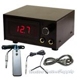 LED Tattoo Power Supply w/ Clip Cord, Power Plug & Foot Pedal