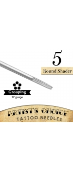 Artist's Choice Tattoo Needles - 5 Round Shader  50 Pack