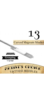 Artist's Choice Tattoo Needles - 13 Curved Magnum 50 Pack