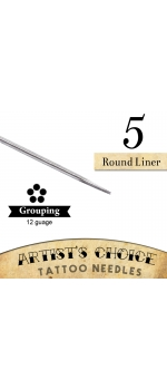 Artist's Choice Tattoo Needles - 5 Round Liner 50 Pack