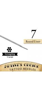 Artist's Choice Tattoo Needles - 7 Round Liner 50 Pack