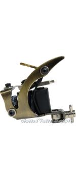 C-CLASS Basic Tattoo Machine Plain Brass w/8 Wrap Coils