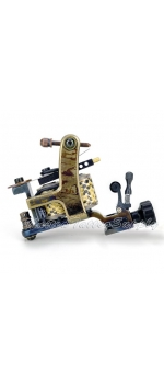 Hand Made Saber DAMASCUS TATTOO Machine with Needle Tensioner - Liner