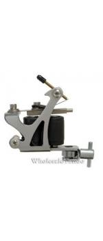 C-CLASS Basic Steel Tattoo Machine Silver w/8Wrap Coils