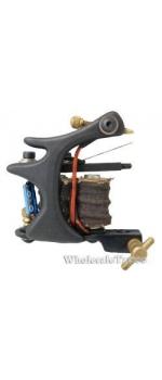S-CLASS Steel Professional Tattoo Machine Black TM-S047/w 10 coils