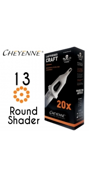 Cheyenne Craft Cartridge needles - 13 Round Shader - 10 Pack