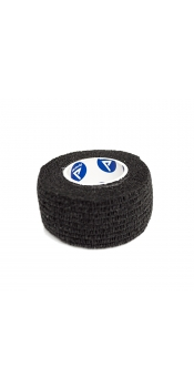 "Sensi Wrap Self Adherent Wraps 1"" x 5 Yards Black (Pack of 6 Rolls)"