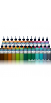 25 Color Intenze Tattoo Ink Set 1oz