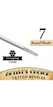 Artist's Choice Tattoo Needles - 7 Round Shader  50 Pack
