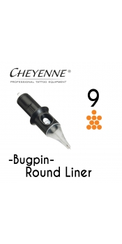 Cheyenne Cartridge -9 Bugpin Round Liner-10 Pack