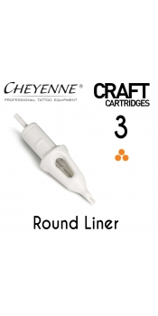 Cheyenne Craft Cartridge needles - 3 Round Liner - 10 Pack