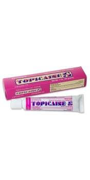 TOPICAINE Topical Anesthetic Gel 10g (1/3 Oz) with 5% Lidocaine