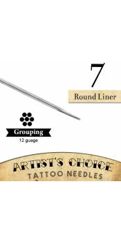 Artist's Choice Tattoo Needles - 7 Round Liner 50 Pack