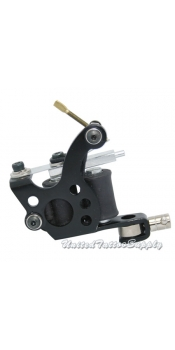 Black Stainless Steel Tattoo Machine w/10 Wrap Coils