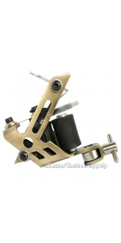 Brass Stainless Steel Tattoo Machine w/10 Wrap Coils