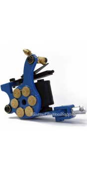 E-class Professional Blue Bullet Revolver Tattoo Machine w/10 Wrap Coil