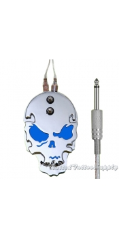 Stainless Steel Skull Metal Tattoo Foot Pedal - Blue Eyes