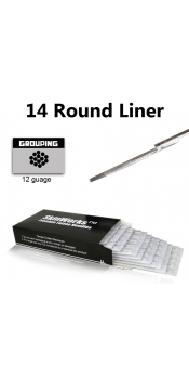 Tattoo Needles - 14 Round Liner 50 Pack