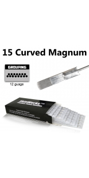 Tattoo Needles - 15 Curved Magnum Needles 50 Pack