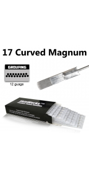Tattoo Needles - 17 Curved Magnum Needles 50 Pack