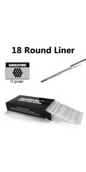 Tattoo Needles - 18 Round Liner 50 Pack