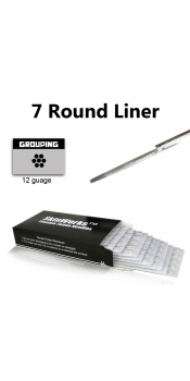 Tattoo Needles - 7 Round Liner 50 Pack
