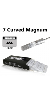 Tattoo Needles - 7 Curved Magnum Needles 50 Pack