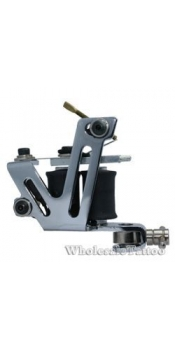 Silver Shader & Liner Stainless Steel Tattoo Machine
