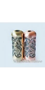 Empaistic Copper Tubes Tattoo Grip Tube Phoenix Design