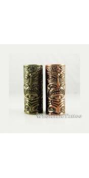 Empaistic Copper Tubes Tattoo Grip & Tube Aztec Mask Design