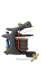 S-CLASS Steel Professional Tattoo Machine Black TM-S047/w 10 coils