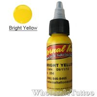 0.5 oz Eternal Tattoo Ink bright yellow
