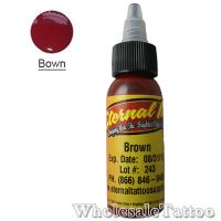0.5 oz Eternal Tattoo Ink brown